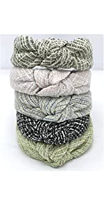 tweed knotted headbands