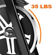35 lbs spin bike