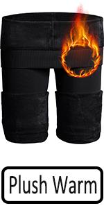 black warm leggings women