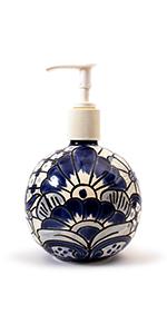 Talavera Soap Dispenser Blue