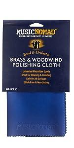 Brass and Woodwind Untreated Microfiber Polishing Cloth