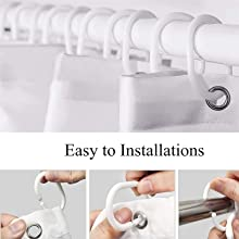 Equipped with 12 hooks for easy installation with minimal effort.