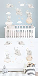 elephant wall decals baby nursery wall stickers kids room