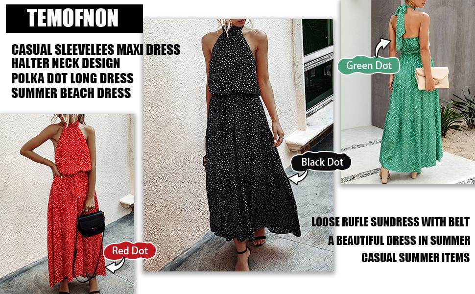 TEMOFON bohemain summer dress for women