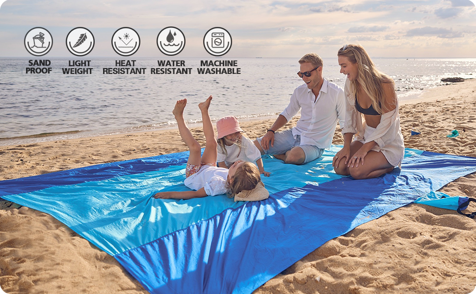 enjoy family life at the beach, kids are playing and parents can simply relax and enjoy.