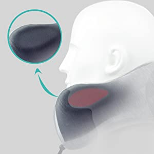 Concave design for chin