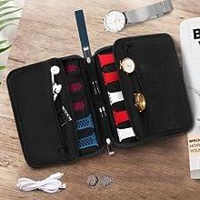 Dos bolsillos para accesorios