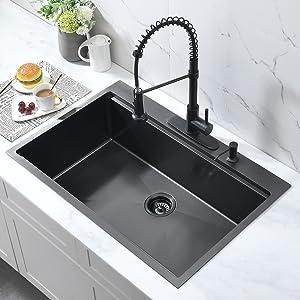 single bowl drop in kitchen sink