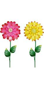 Flower Garden Stakes Decor