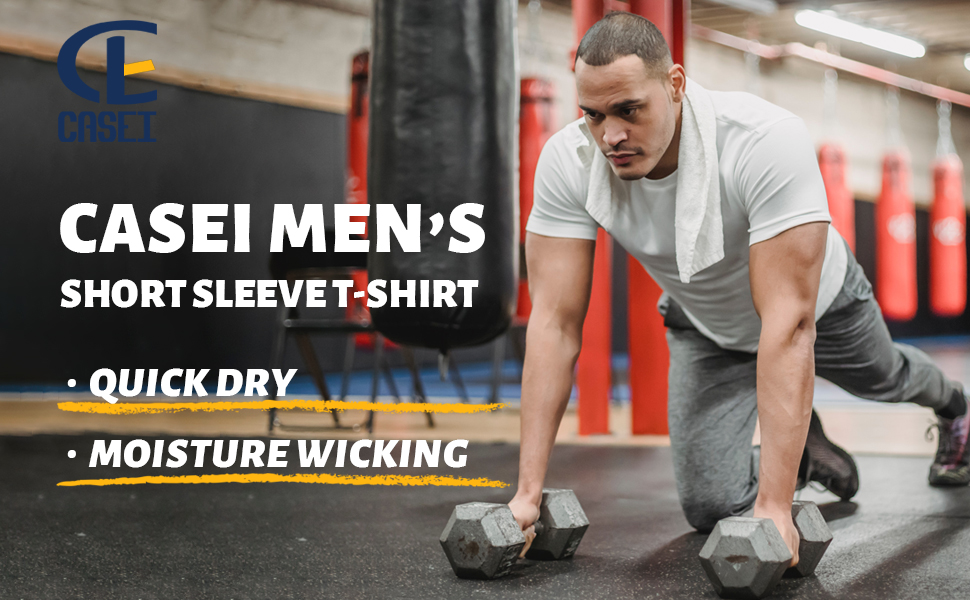 Men's Quick Dry Short Sleeve T-Shirt Moisture Gym Training Running Shirts