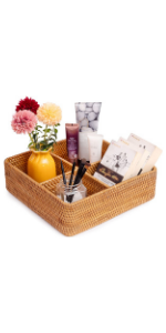 wicker storage cubes baskets for organizing bathroom