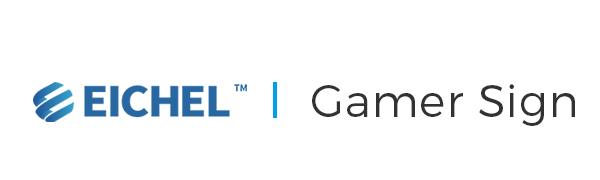 Eichel neon sign logo gamer sign
