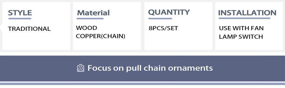 pull chain ornaments