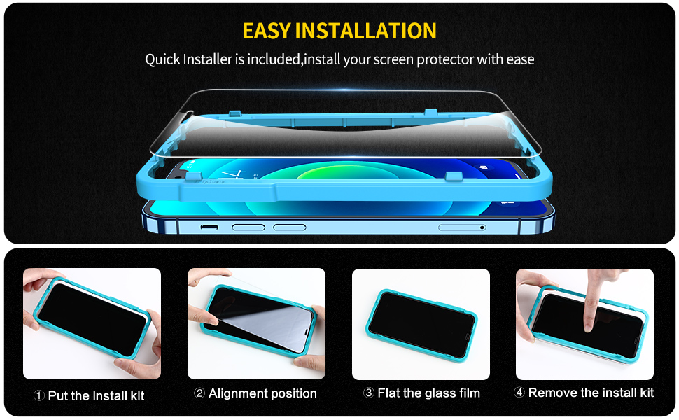 SmartDevil Amazing Full Screen Coverage Tempered Glass for iPhone 11 11 Pro 11 Pro Max 7