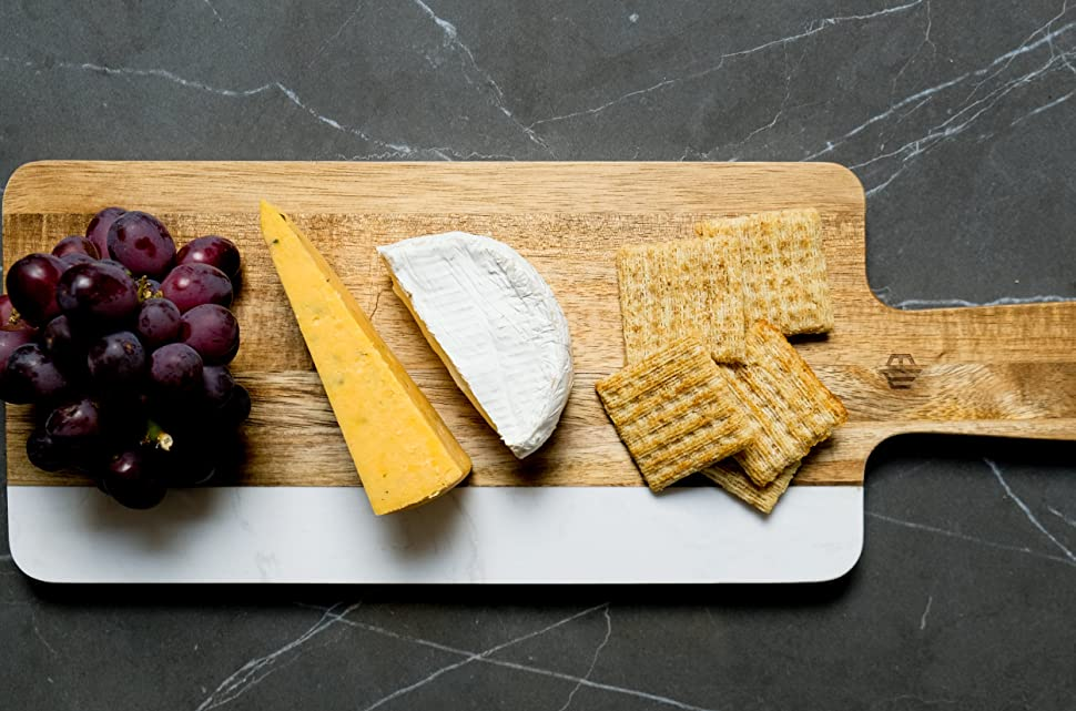 Marble and Acacia Cheese plate