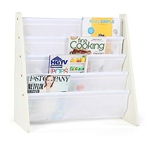 kids bookrack bookshelf childrens booksling white