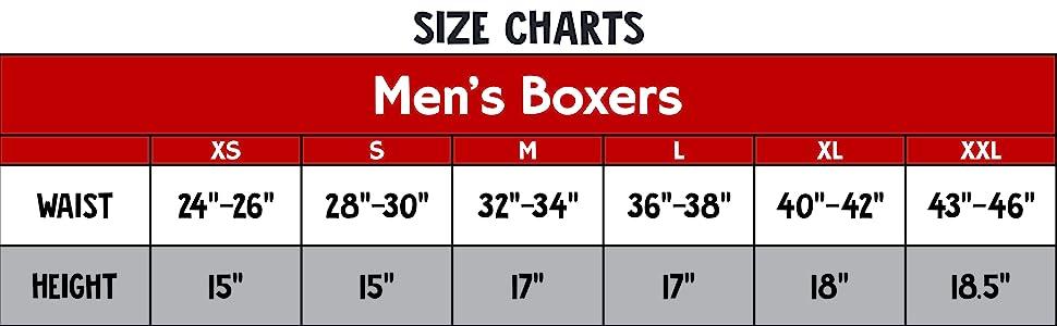 Boxer Size Chart