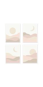 Wall Art Prints - Set of 4