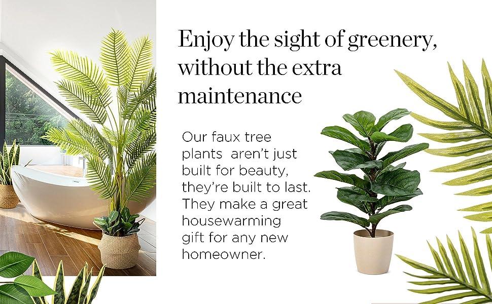 plants for bedroom decor, faux plant, artificial plant, plants for living room decor, floor plant