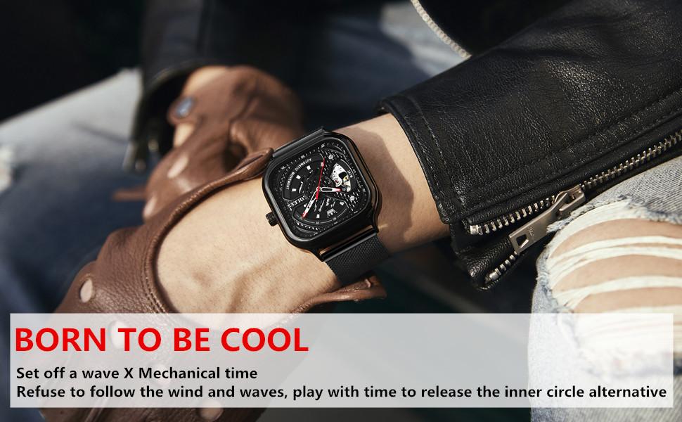 Men's Fashion Mechanical Automatic Wrist Watches