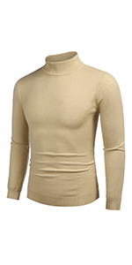 COOFANDY Men's Slim Fit Mock Turtleneck Pullover Sweater Casual Basic Knitted Thermal Sweaters