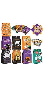 40PCS Halloween Treat Bags Bulk B08ZCCQX4G