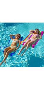 2 Pack Inflatable Pool Float Hammock