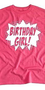 Happy Family Clothing Superhero Birthday Girl Party T-Shirt
