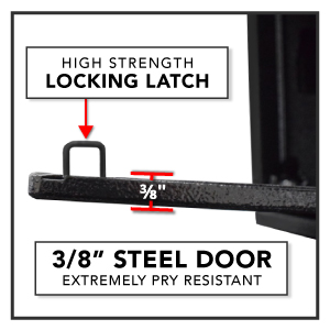 Stealth Safe HHS Biometric Handgun Hanger Safe Quick Access Pistol Box California DOJ Approved