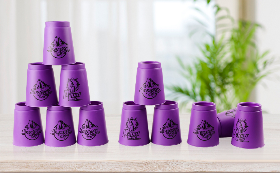 Purple Stacking Cups