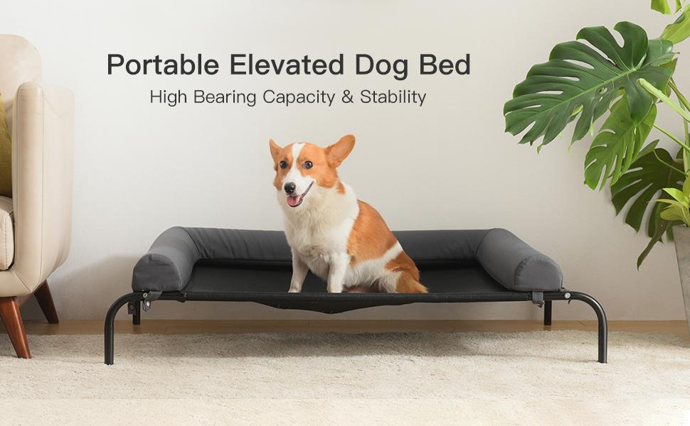 dog cot bed for large pet cot raised outdoor elevated xl Extra Large Medium Small Dog Breathable