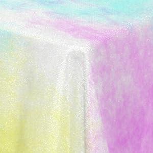 rainbow tablecloth