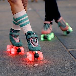 bont glow outdoor led light up roller skate wheel
