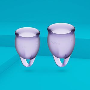 Satisfyer Feel Confident - Menstrual Cup Set, 15 & 20 ml