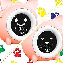 ok to wake clock kids alarm clock toddler alarm clock clock for girls