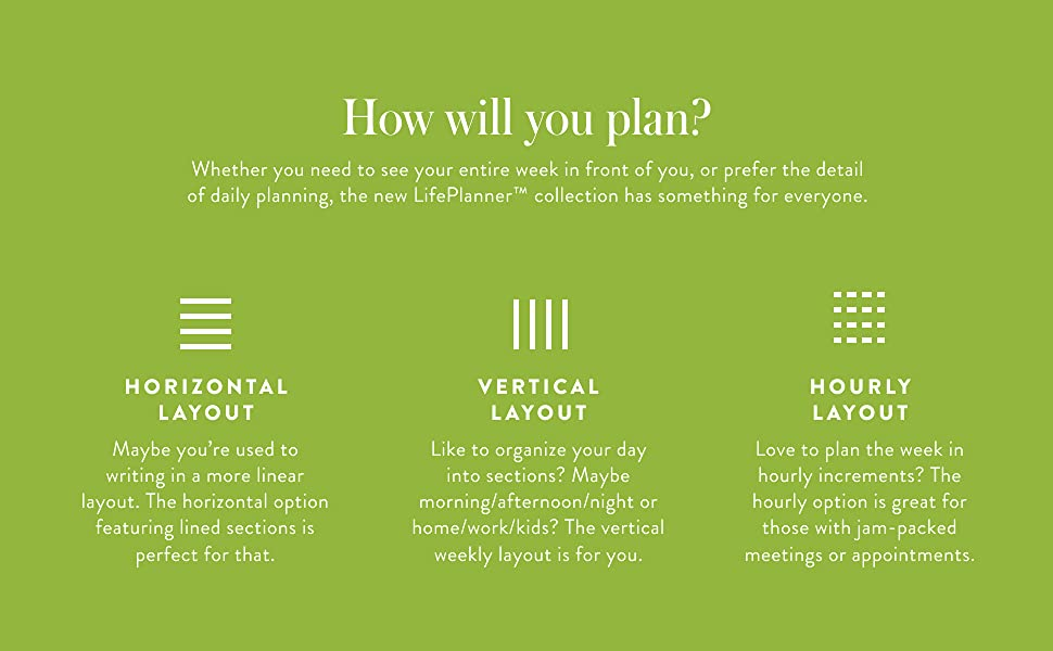 How will you plan?