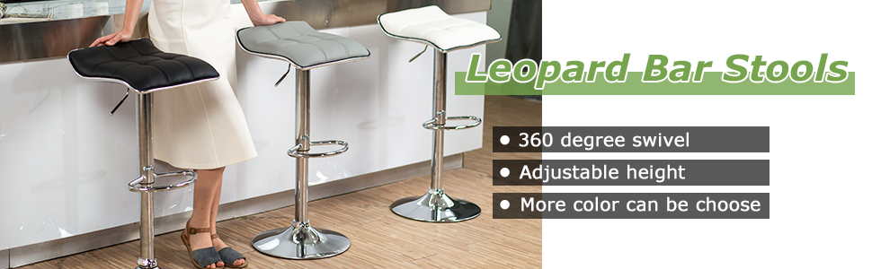 Leopard Backless bar stools