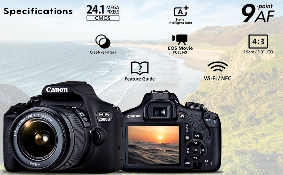 Specifications for the Canon EOS 2000D