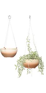 9+10 inch ceramic hanging plant pots