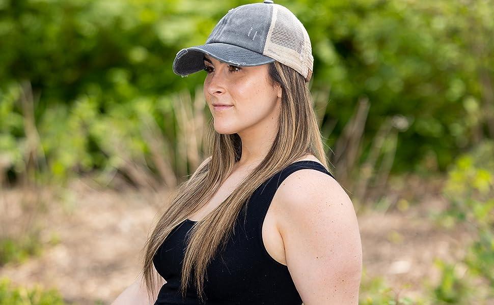 Charcoal trucker hat