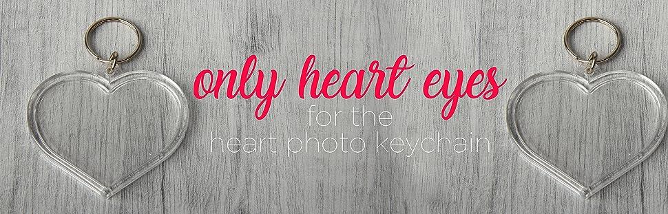 Heart photo keychain