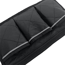 3 front pockets for Wheelchair Storage Side Bag