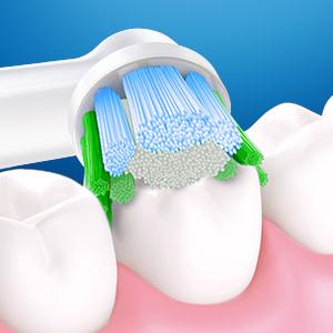 Reinigt diep tussen de tanden