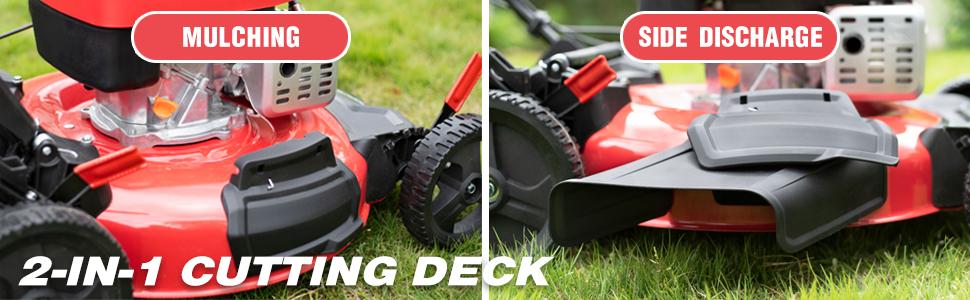 2 in 1 cutting deck lawn mower