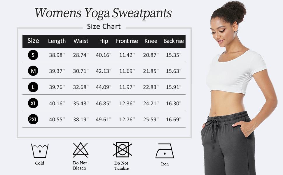 Womens Yoga Drawstring Sweatpants Wide Leg Jogging Pants with Pockets