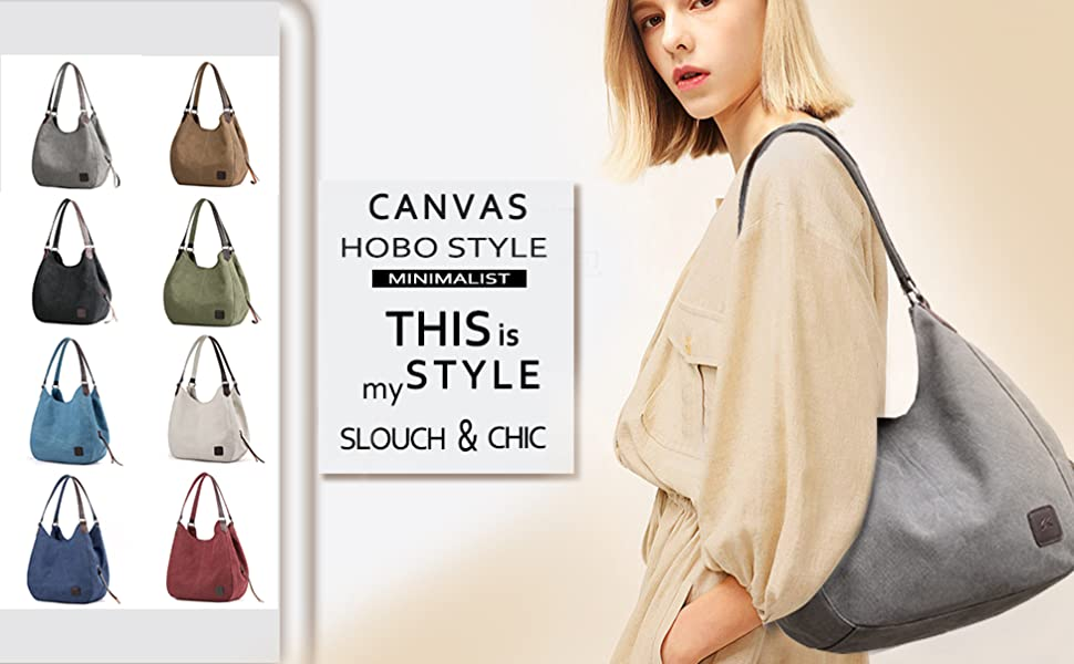 canvas hobo bags for women
