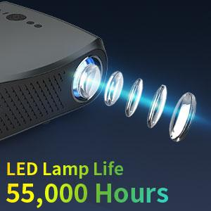 Led lamp life projector 1080p projector outdoors movies projector  big screen  wifi projector