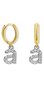 original design 26 Lowercase Initial Earring