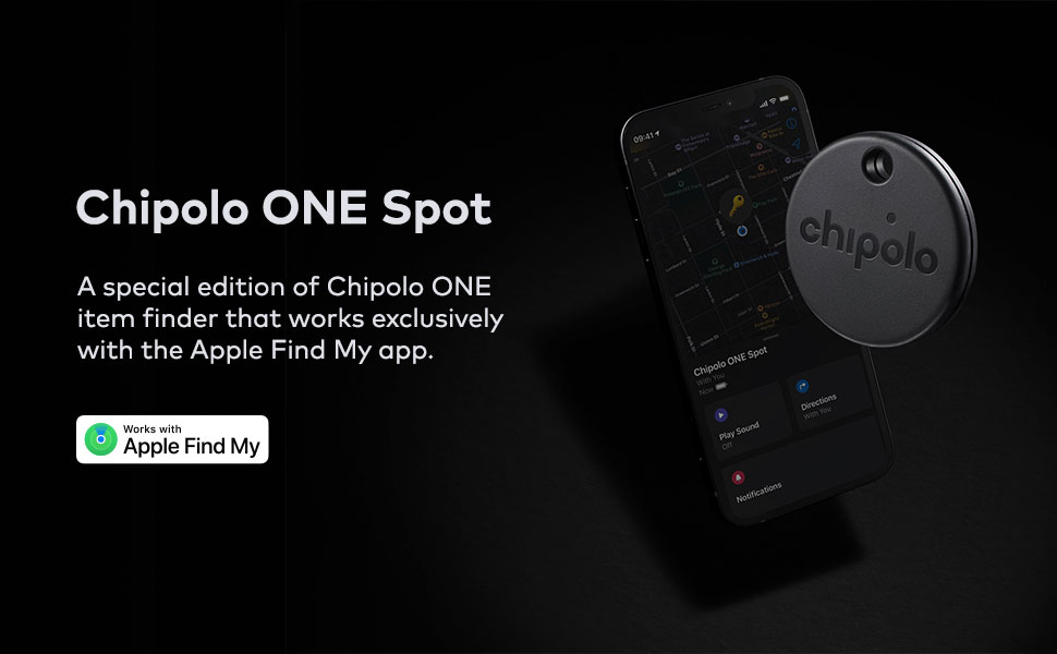 Chipolo One Spot key finder. Works with the Apple Find My app.