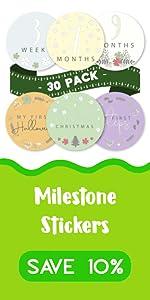 Baby Milestone Stickers save 10%